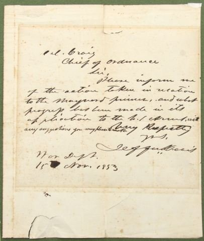 jefferson davis letter to abraham lincoln