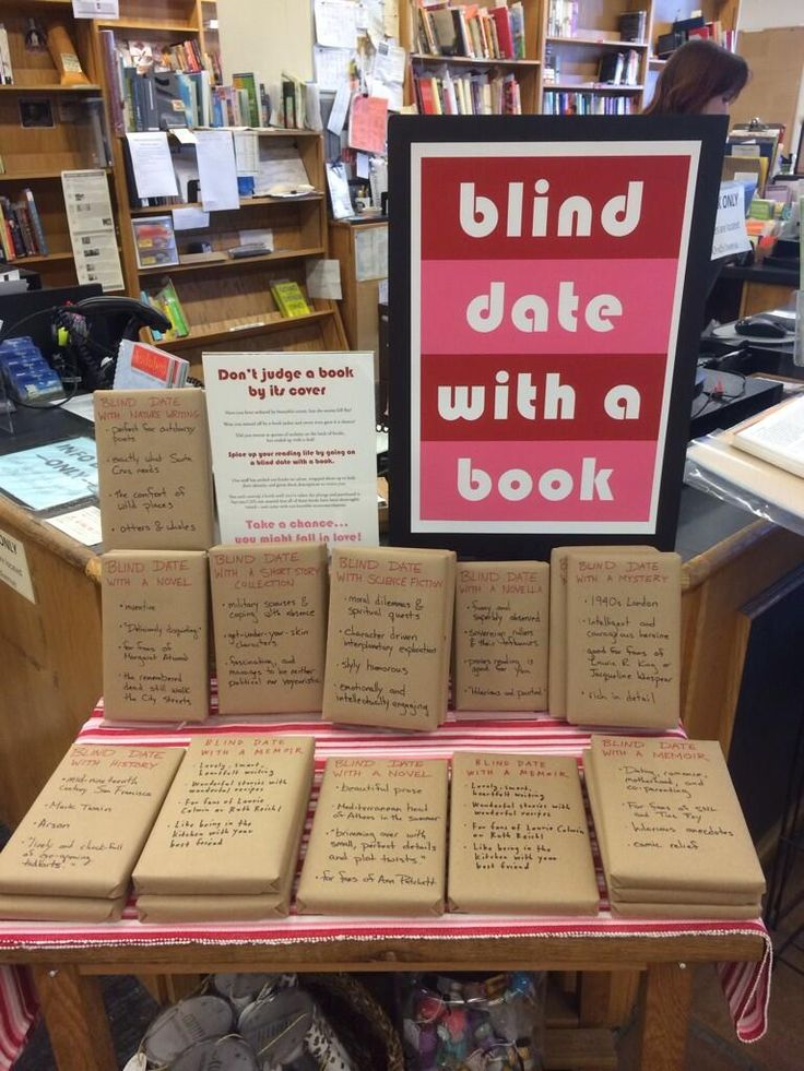 Blind date with a book - Don't judge a work by the cover. This would be a cool way to do. Idk for what but hey I like it!