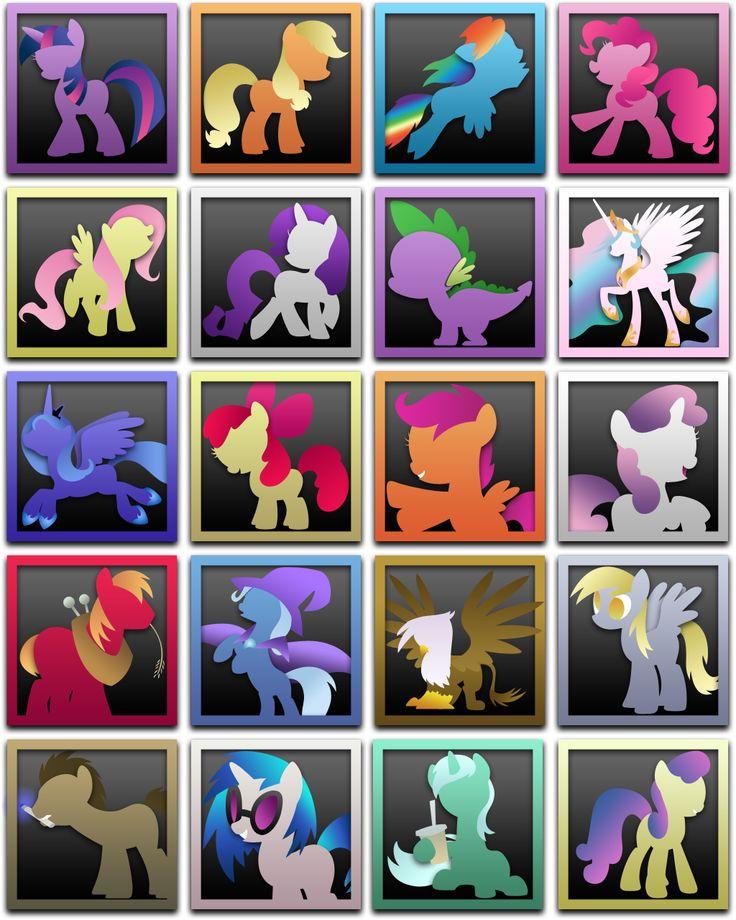 My Little Pony Icons, Win+OSX by AtomicGreymon.deviantart.com on @deviantART