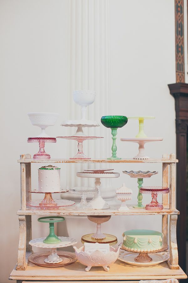 The Cream Minted and Vintage. Candy Dishes and Cake Stands Vintage style.