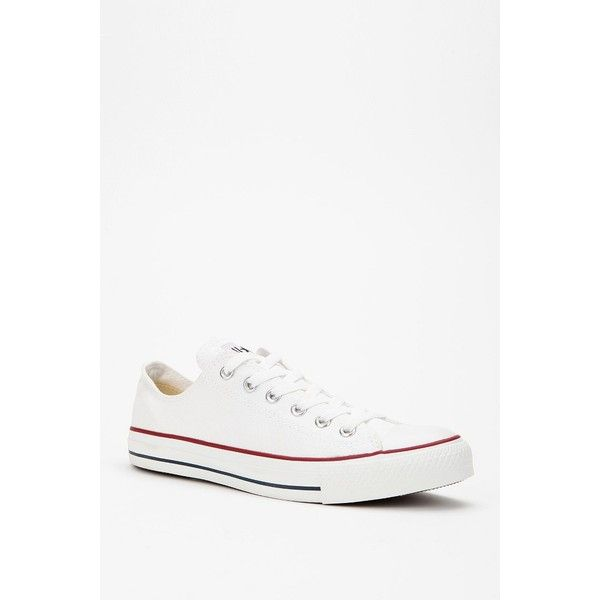 Converse Chuck Taylor All Star Low-Top Sneaker ($45) ❤ liked on Polyvore featuring shoes, sneakers, converse, white, converse sneakers, white shoes, converse shoes, star shoes and white sneakers