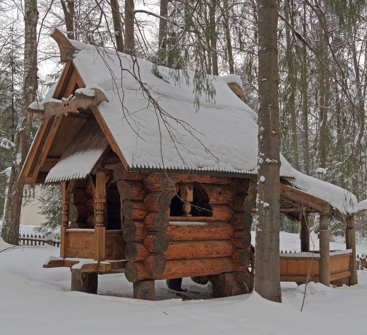 """Museum """"Abramtsevo"""", Moscow region. Children's House """"hut on chicken legs"""""""