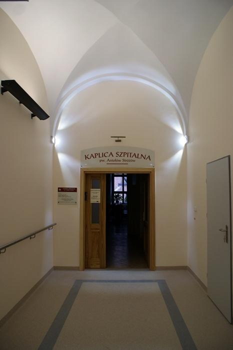 Wejście na Chór Kaplicy Szpitalnej - Szpital Zakonu Bonifratrów w Katowicach - zakończenie inwestycji listopad 2012 rok