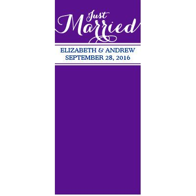 http://www.orientaltrading.com/vinyl-personalized-just-married-door-banner-a2-13731812.fltr?categoryId=551269