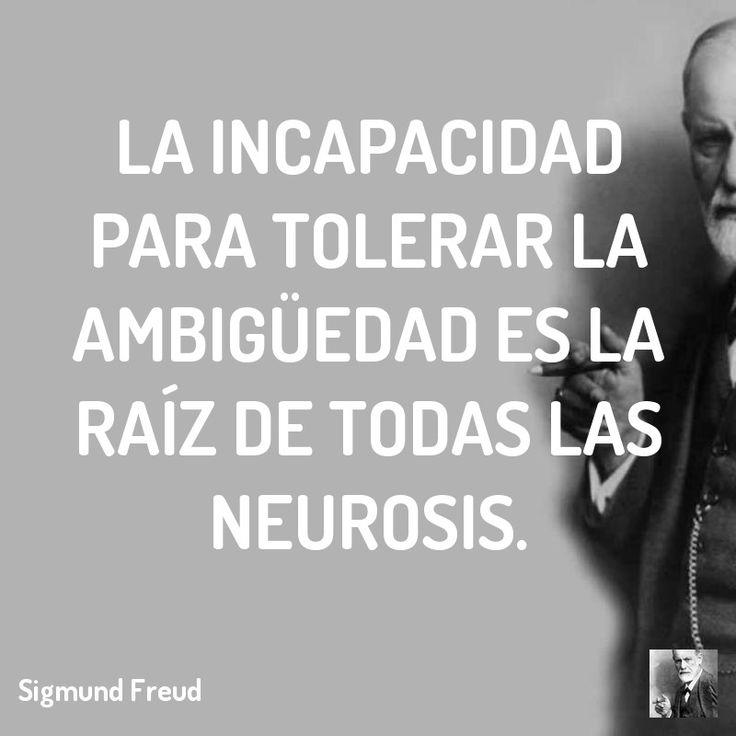 La incapacidad para tolerar la ambigüedad es la raíz de todas las neurosis.  #psicologia #lacan