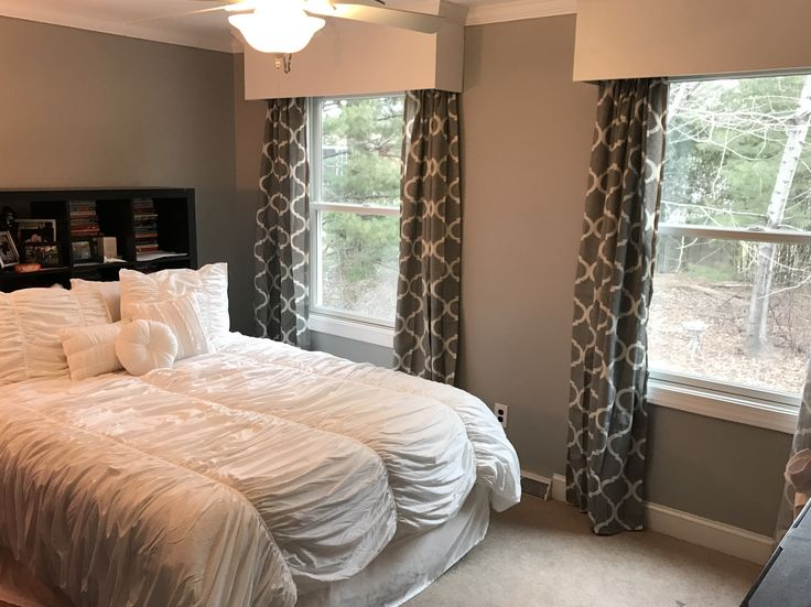 Coventry Gray by Benjamin Moore. Bedding my Bed Bath & Beyond.