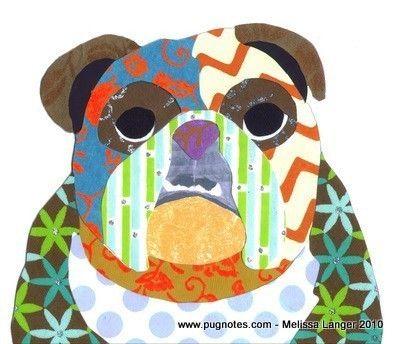 English Bulldog10 Collage, Collage Note, Art Crafts Bulldogs, My Heart, Greeting Cards, Bulldogs Art, Baby Dogs, Note Cards, English Bulldogs Crafts