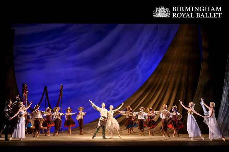 Artists of Birmingham Royal Ballet in the masque scene