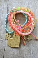 Cat Hammill multi love bracelet set