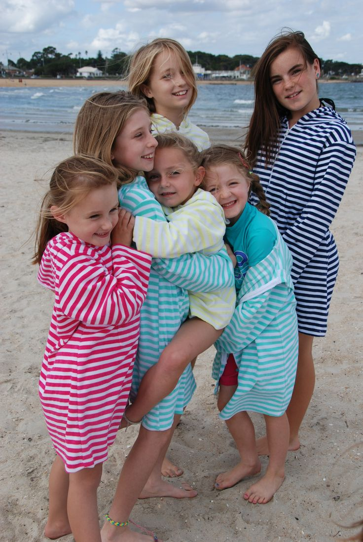 www.ejkids.com.au  EJ Girl hooded Swim/Beach robe range