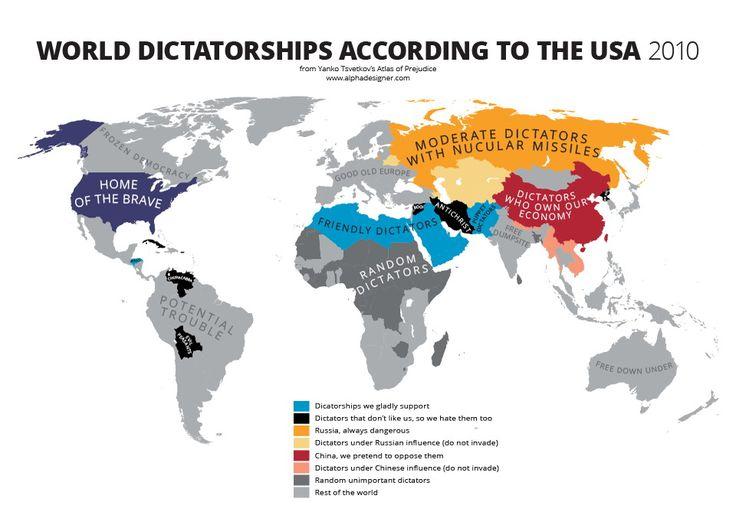 World Dictatorships According To The Usa Vivid Maps