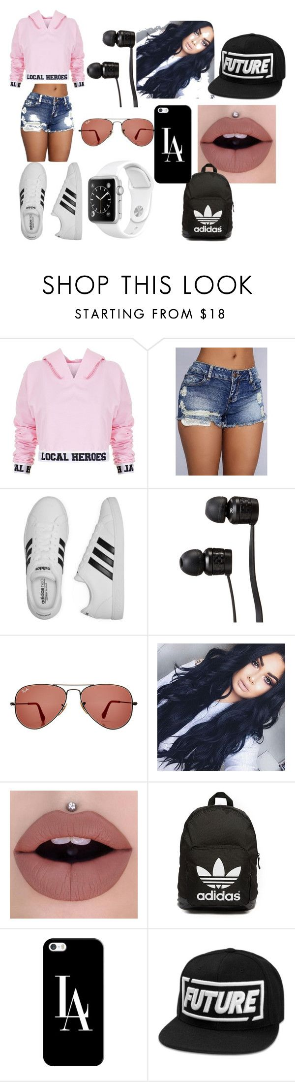 """local heroes"" by royalty-fashion-love-gymnastics ❤ liked on Polyvore featuring Local Heroes, adidas, Vans, Ray-Ban, adidas Originals and Casetify"