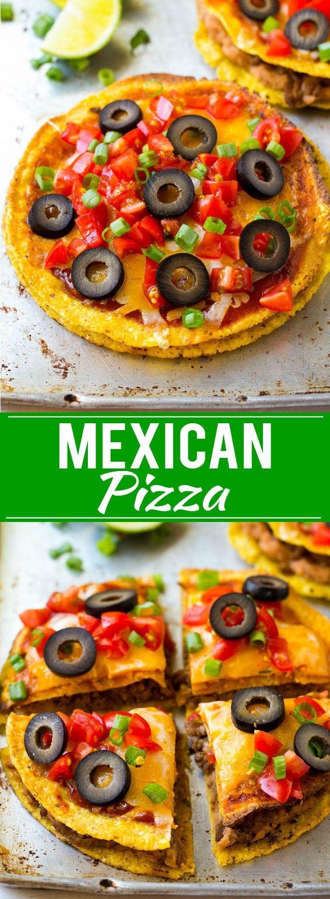 Mexican Pizza Recipe | Tostada Recipe | Taco Bell Copycat Recipe | Easy Mexican Food