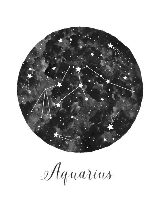 Aquarius Constellation Art Print