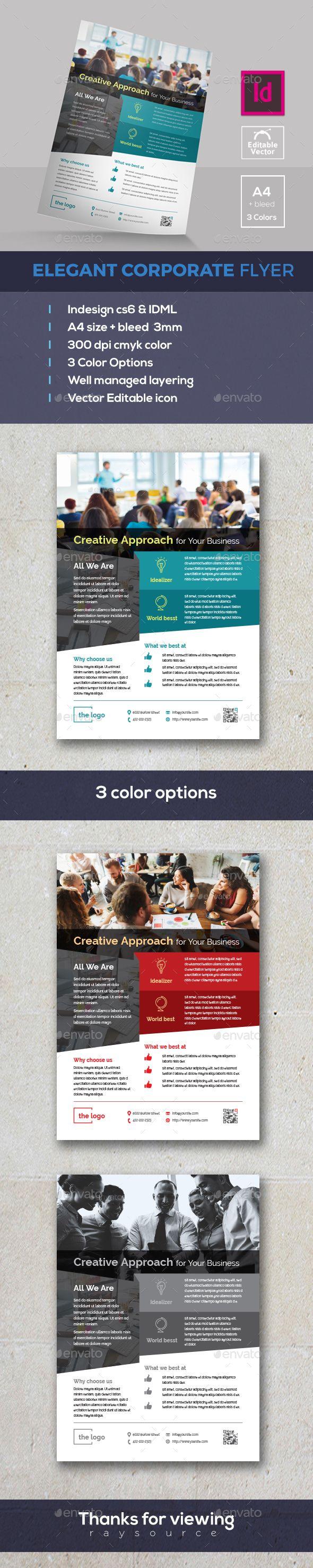 Elegant Indesign Flyer — InDesign INDD #grey #idml • Available here → https://graphicriver.net/item/elegant-indesign-flyer/19417266?ref=pxcr