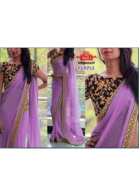 Bollywood Replica - Party Wear Purple Saree - WA0045