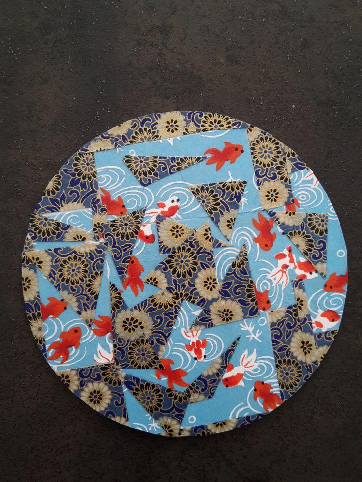 Dessous de verre cr ation originale made by moduscray fabrication avec du papier japonais www - Dessous de verre originaux ...
