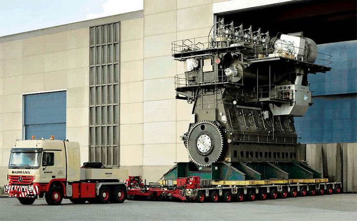 The diesel engine that's going to power the world's largest water pump to protect New Orleans from rising floodwater.