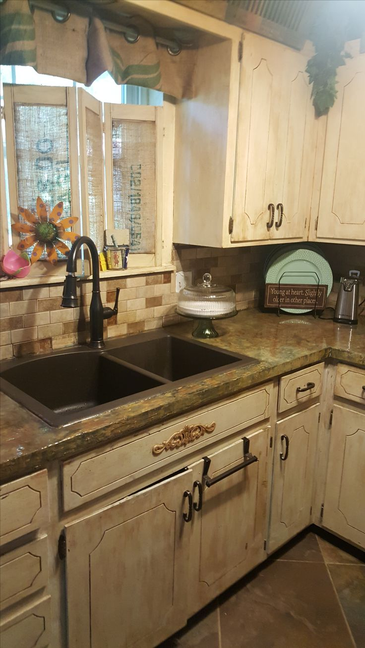 This Gorgeous Custom Countertop Surface Was Created By Our Customer,  Marsha, Who Painted Acrylic