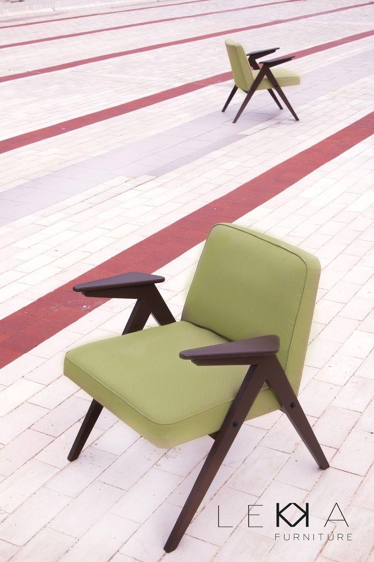 Fotel projektu prof. J.Chierowski  model 366. PRL. Loft .Vintage. Lata 60 renowacja: LEKKA furniture   Armchair designed by J.Chierowski from 60s