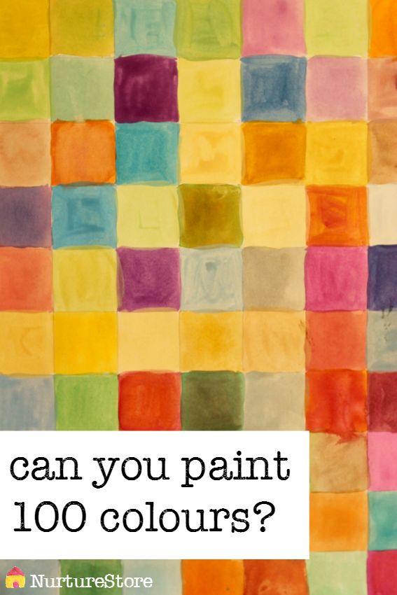 100 colours hundred square activitiesCathy James @ NurtureStore