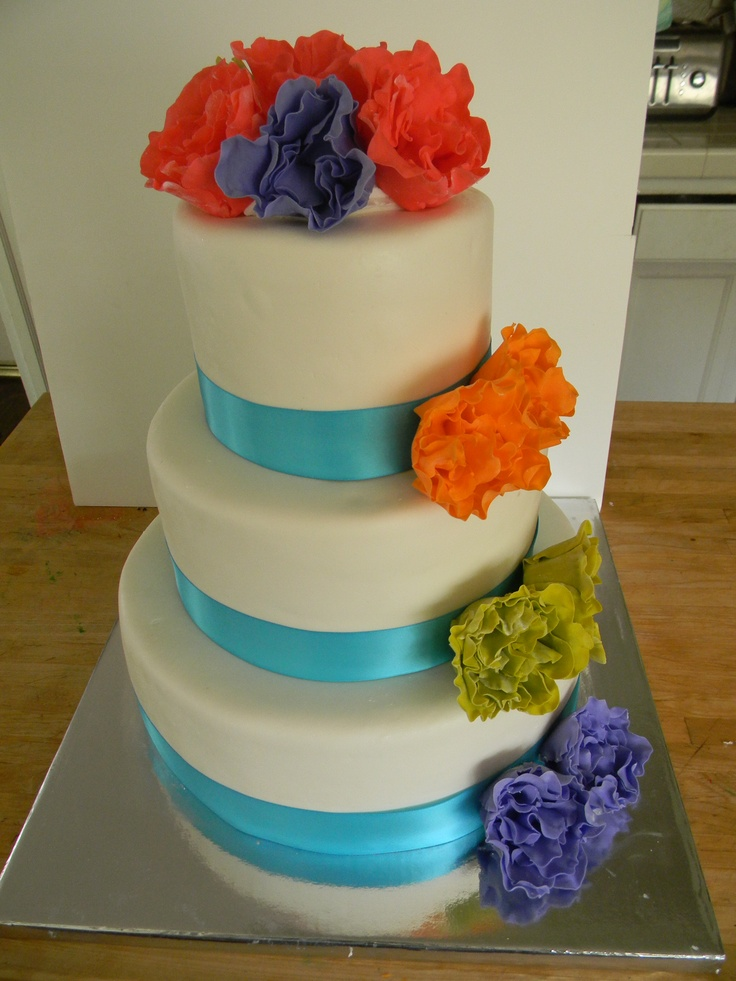 Mexican inspired wedding cake | My wedding | Pinterest