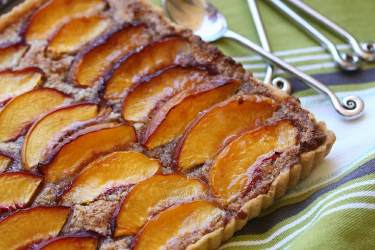 Nectarine Almond Tart #thermomix #recipe