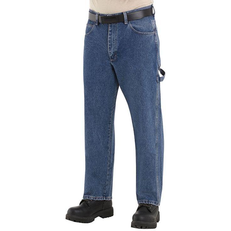 Men's Bulwark FR Excel FR Pre-Washed Dungaree Jeans, Size: 34X34, Blue