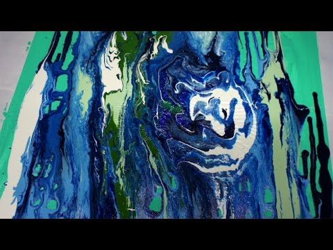 Abstract Art Painting Techniques, Abstrakte Malerei, Beginners, Anfänger, Acrylmalerei Demo - YouTube