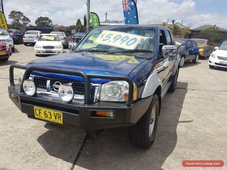 2005 Nissan Navara D22 ST-R (4x4) Blue Manual 5sp M Dual Cab Pick-up #nissan #navara #forsale #australia
