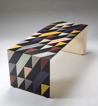 'shift' is a collaboratiion with London based design studio Patternity. Vibrant marquetry combined with restrained design vocabulary have produced this stunning piece. The design can be made as expanded into many different pieces of furniture.    The addition of a glass top which can be laser etched or sand blasted to give added depth and complexity.    45 x 120 x 50 cm