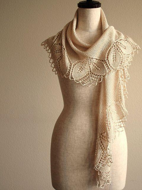 "Free Pattern – Absolutely gorgeous scarf pattern ""Silken Haruni"""