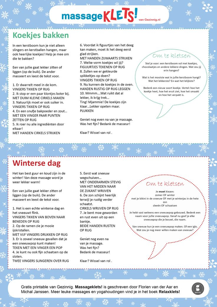 Kindermassages met kletsvragen #massageklets #gezinnig #freeprintable
