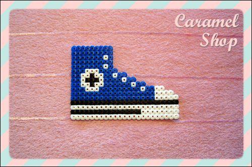 Converse hama beads - Caramel Shop