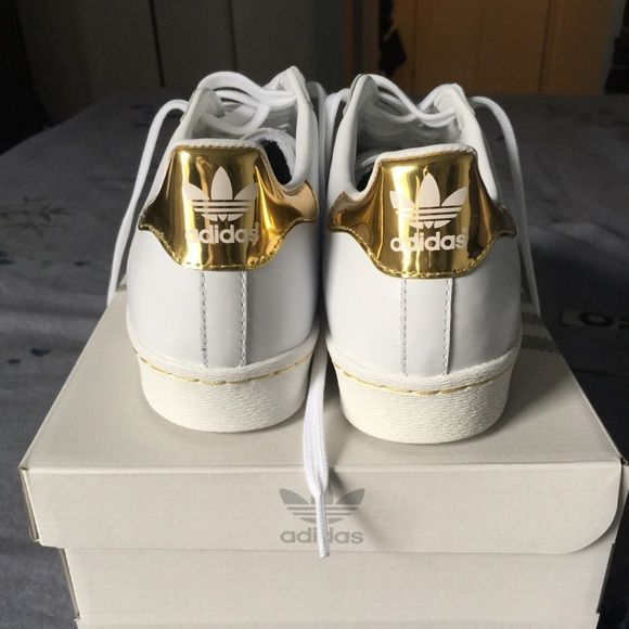 adidas superstar gold tongue