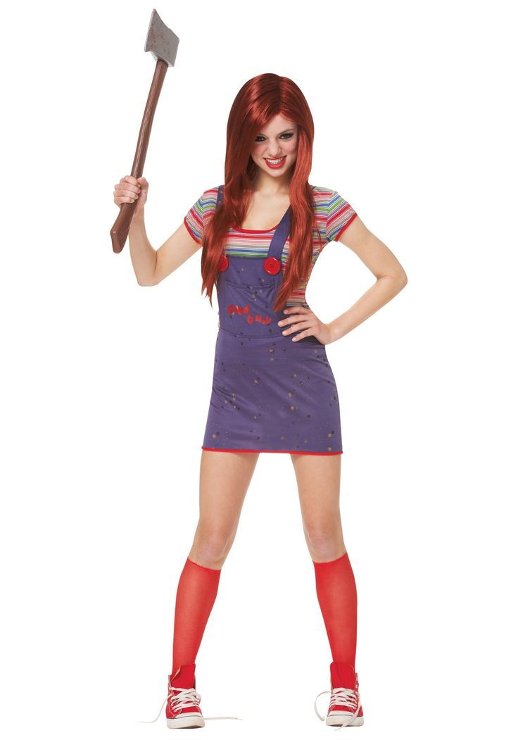 scary sassy teen chucky girls costume - Ideas For Girl Halloween Costumes