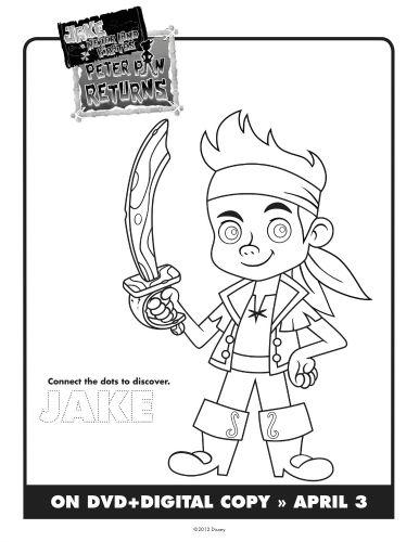 Jake The Neverland Pirates Printable Coloring Sheet