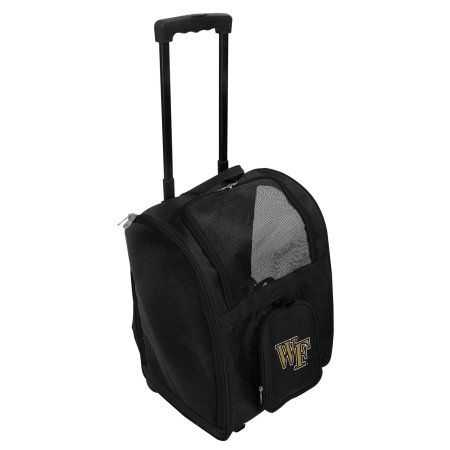 Ncaa Wake Forest Demon Deacons Premium Pet Carrier with Wheels, Green