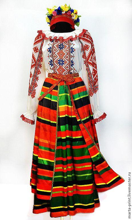 Купить Белорусский костюм - орнамент, белорусский костюм, народный костюм, народный стиль, народная одежда