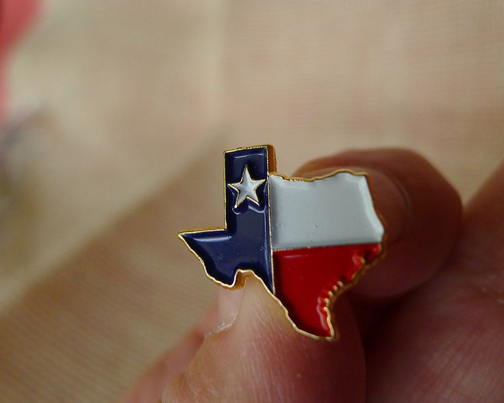 Vintage Texas Flag Pinback, Enamel and Brass Lone Star State Tie Tack, Lone Star State TX Flag Lapel Pin, Texas Election Candidate Accessory - pinned by pin4etsy.com