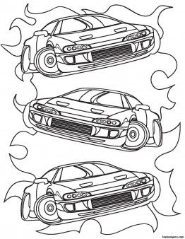 Printable for boy Race Car Coloring sheet - Printable Coloring Pages For Kids