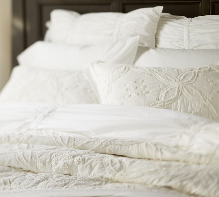 37 best Pottery barn bedding images on Pinterest | Cushion covers ... : embroidered quilt covers - Adamdwight.com