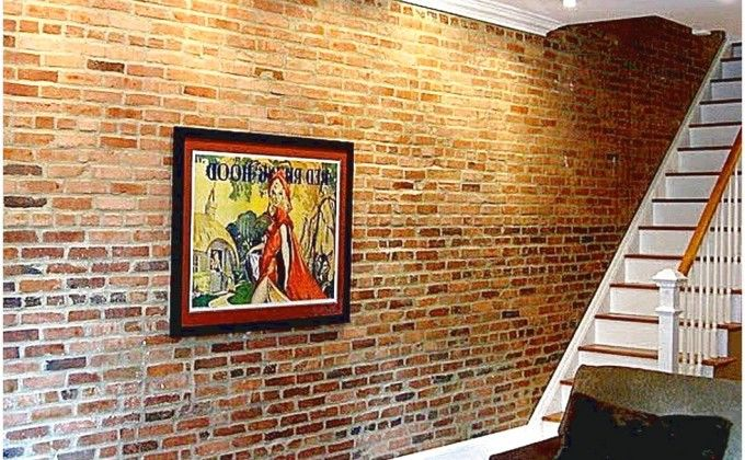 Faux Brick Wall Panels' Instruction Decorating With Decor That Has A Painting