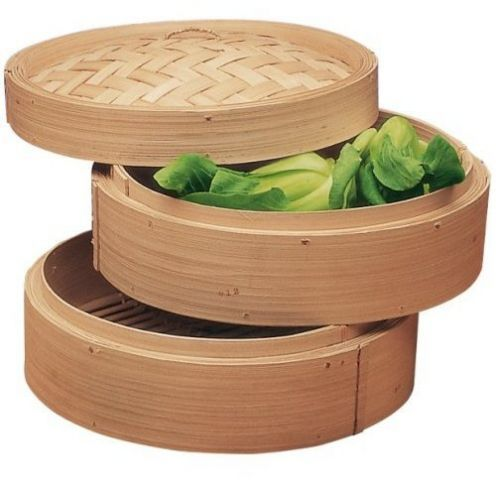 "Bamboo steamers have holes that let air in  out to cook food uniformly, which make these containers well suited to storing garlic, onions,  shallots, which require ventilation  should not be refrigerated. Place all 3 in a single unit, or keep each kind in its own section of the stackable steamer.  Place the steamer on something to catch ""flaking"" skins."