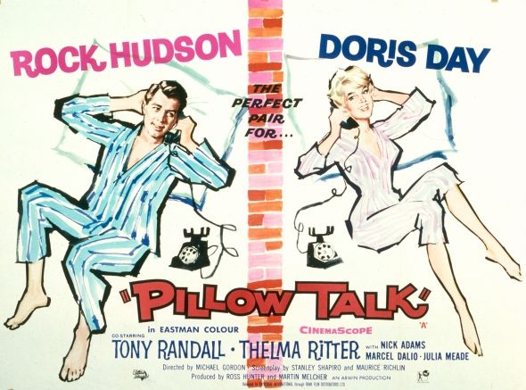 """Pillow Talk (1959) A huge success upon release in 1959, Pillow Talk is a New York-set romantic comedy and the first of three films Day made together with Rock Hudson – """"the perfect pair"""", especially in complementing blue and pink pyjamas. Lover Come Back (1961) and Send Me No Flowers (1964) followed."""