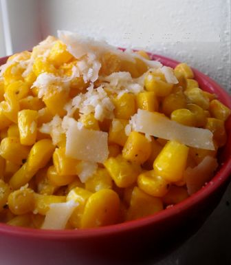 Easy Addicting Corn Recipe...I made this with fresh summer corn that i cut off the cob....used Romano cheese cause that's whatvi had and added a bit of salt. VERY easy and tasty side dish. Add rice and up the serving size and it's a filling meal.