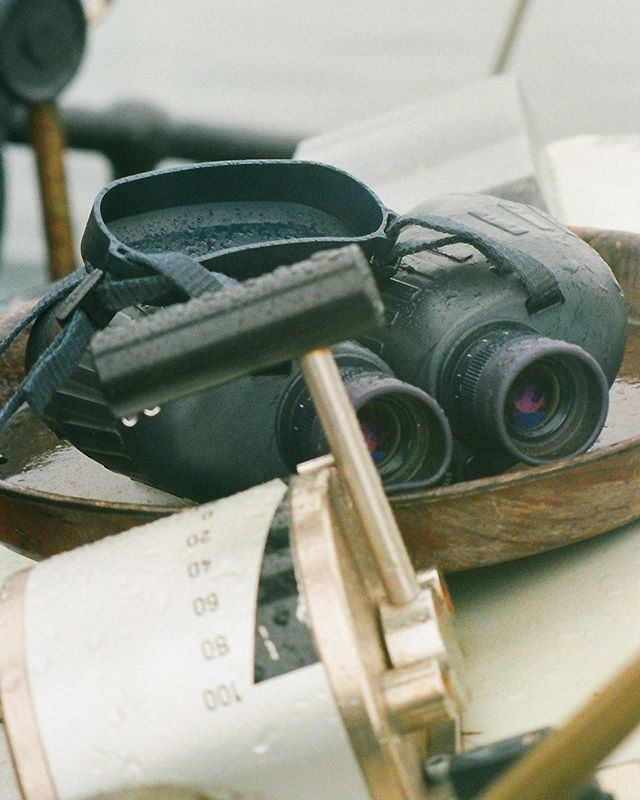 Binoculars at the ready      #filmisnotdead #shootfilm #filmphotography #filmstagram #filmcommunity #35mm #lovefilm #analogphotography #sailing #boat #endoceanplastics #ocean
