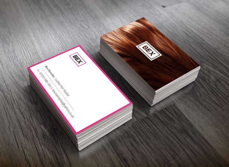 Business cards for Bex. Ladies Hair Stylist.