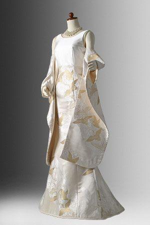 setsuko wakatsuki / 白無垢ドレス-No,104 白無垢飛翔鶴金&白西陣織