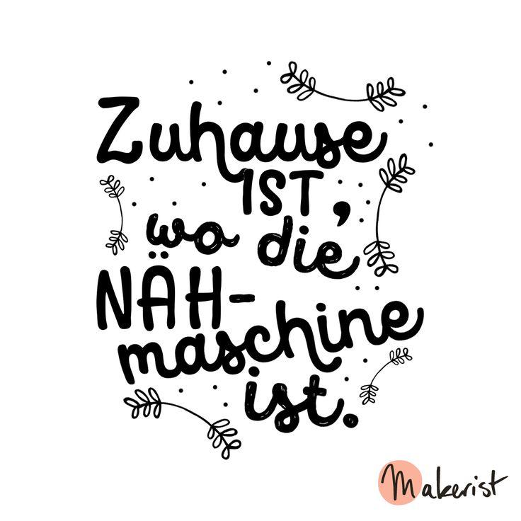 Zuhause ist, wo die Nähmaschine ist - via Makerist.de